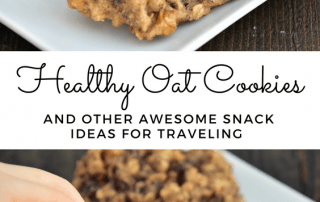 Looking for healthy travel snack ideas like these healthy oat cookies for your next family roadtrip or airplane flight? Here's a bunch to help your family always have some nutritious food on hand during trips! #healthysnacks #travelsnacks #snackideas