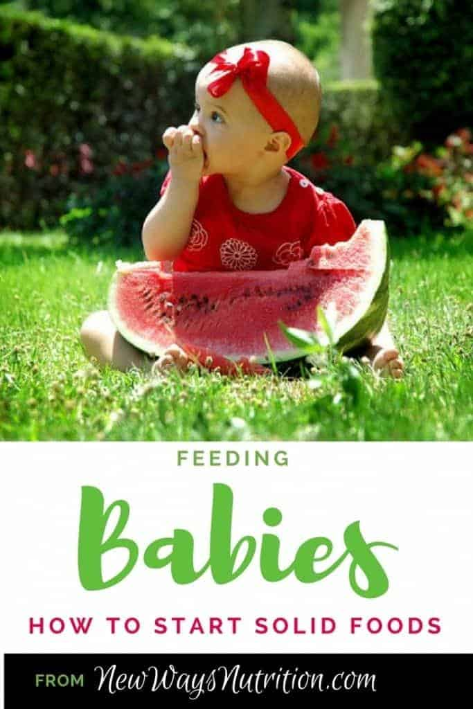 Feeding Babies: How to Start Solid Foods. A series to help your child have the best relationship they can with food, starting with how, and when, to introduce solid foods.