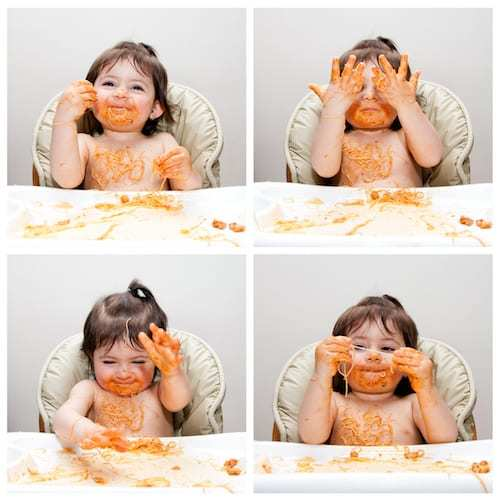 Baby Led Weaning can get messy | New Ways Nutrition
