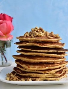 Honey Whole Wheat Pancakes-Simple Bites