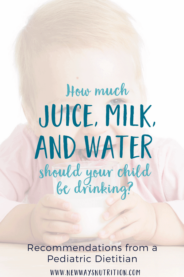 Drinks for kids are a common area of concern for parents. Should you be giving your baby more water or milk? How about should kids have juice? Click through for all the details! #drinksforkids #childnutrition #babynutrition