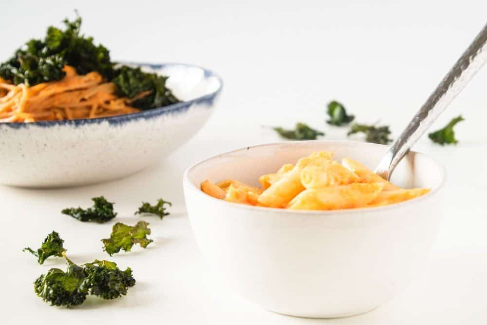 Sweet Potato Mac and Cheese is a delicious baby and family friendly recipe. It's a great baby led weaning idea, and a baby food recipe. #blw #babyledweaning #healthydinnerrecipe #quickfamilymeals