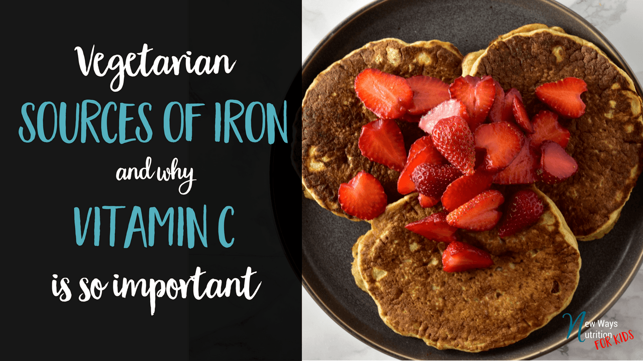 What are some good sources of Vitamin C to help your body absorb vegetarian sources of iron?