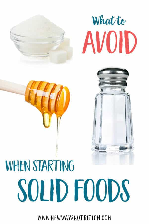Do you know the foods to avoid for babies? As you start introducing solids, it's important to be aware of what you should avoid, like honey! Find out why and what other foods you should avoid by clicking through! #blw #childnutrition #babyledweaning