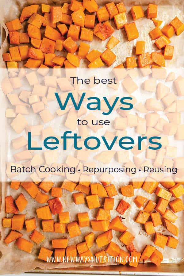 Do you know the best ways to use leftovers? Do you batch cook, and then reuse one ingredient multiple times? Do you turn your leftovers into a whole other meal entirely? Click through for tips from a dietitian on the best and healthiest ways to use leftovers to feed your family! #familymeals #leftovers