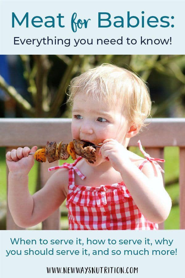 Meat for baby- there are so many questions about it! Is meat safe for babies? When should you give it? How do you cook meat and serve it so that it is safe for babies. These, and so many other questions, are answered here with reliable and safe information from a pediatric dietitian.