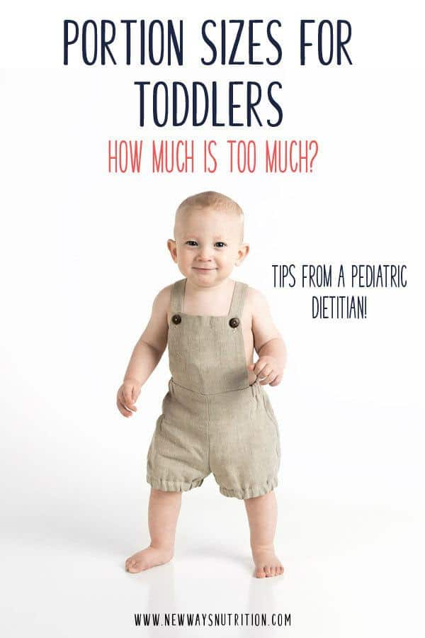 Toddler portion sizes can be so confusing. How much should you be giving of each food? Do you need to worry when your toddler doesn't eat all of something? What if I told you that serving sizes for toddlers should be thrown out the window? Click through for what I recommend instead to help keep meals low stress, and help you feel confident in what your child is eating.