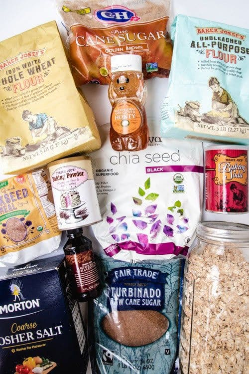 A stocked pantry is the best tool you have for making quick and healthy family meals. Whether it's breakfast, dinner, or a baking project with your kid, having all of your pantry staples stocked helps to ensure you can make meals whether you've planned ahead of not. Get tips here from a registered dietitian about the essentials of a well stocked pantry and what you should always have on hand! #dietitian #pantrystaples #quickmeals