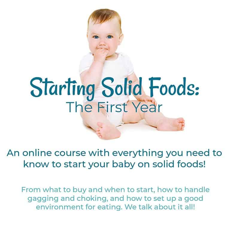 Starting Solids Course   New Ways Nutrition