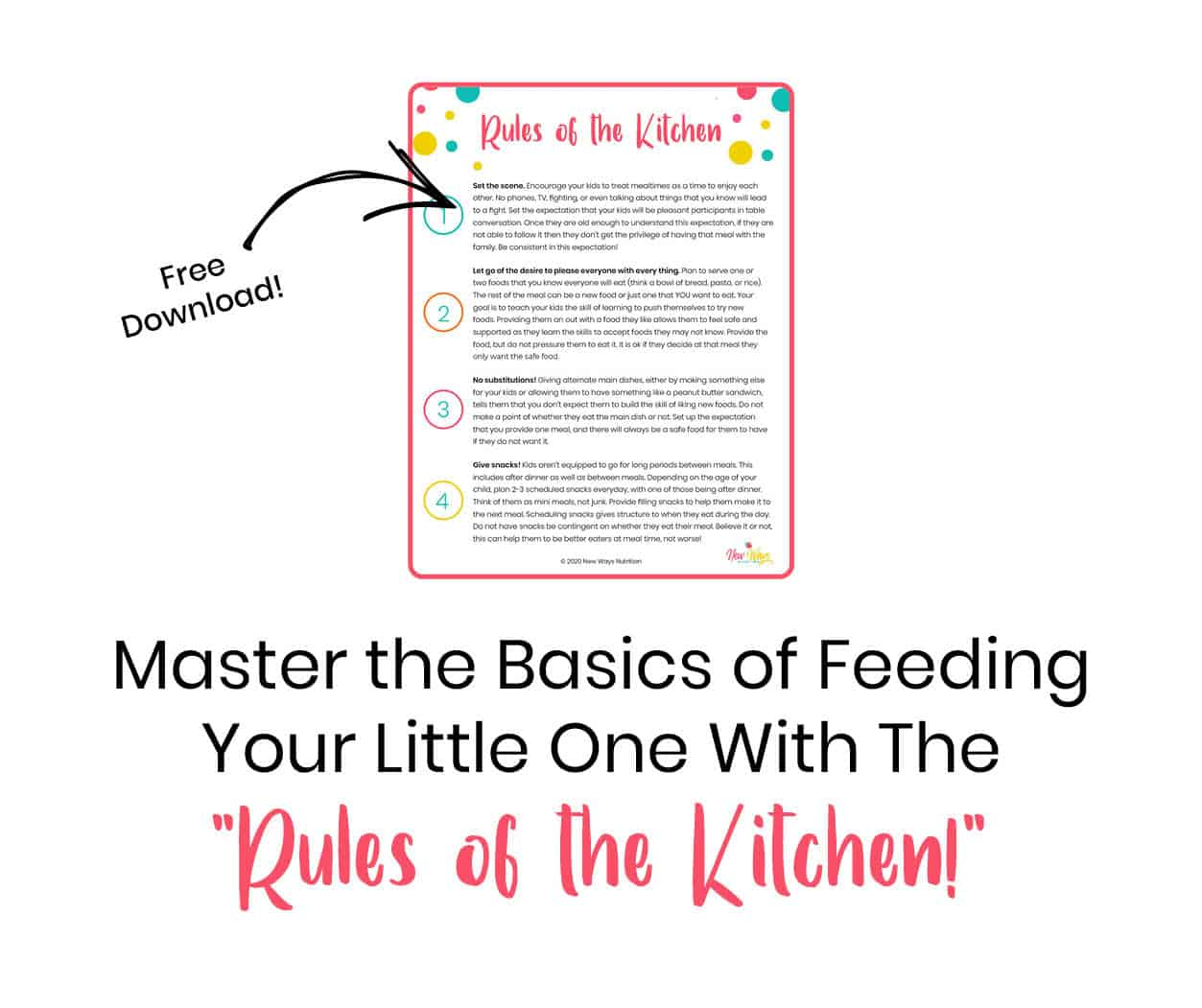 Rules of the Kitchen | New Ways Nutrition