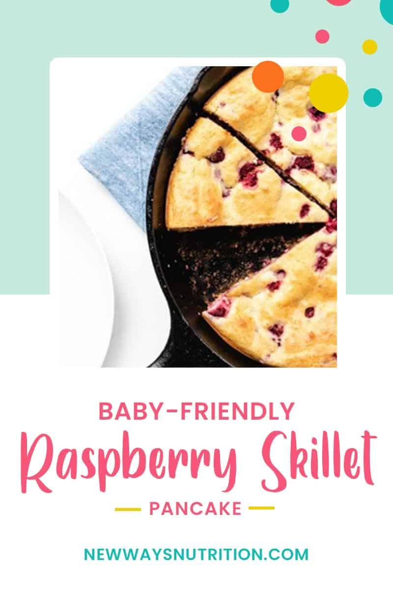 Baby Friendly Raspberry Skillet Pancake || New Ways Nutrition